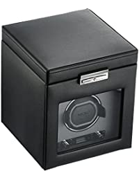 456102 Viceroy Single Watch Winder with Cover and Storage, Black
