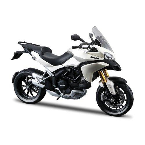 Ducati Multistrada 1200S Motorcycle Model 1:12 Scale White b