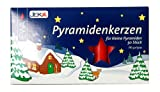 Jeka Pyramidenkerzen 14mm Medium Pyramid Candles for German Pyramids, Red
