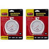 Rubbermaid Commercial Products YQANUYXV Stainless Steel Oven Monitoring Thermometer, Metallic, 2 Pack