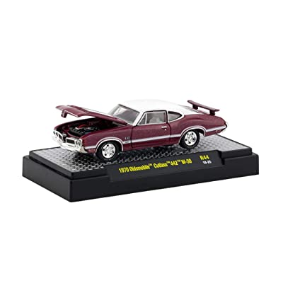 M2 Machines 1:64 Detroit Muscle Release 44 1970 Olds Cutlass 442 W30 Red: Toys & Games