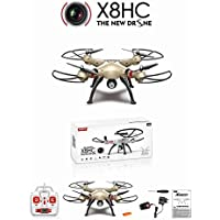 Safstar Syma X8HC Drone 2.4G 4CH 6-Axis Gyro RC Quadcopter with 2MP HD Camera UAV RTF UFO