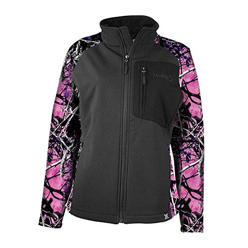Moon Shine Camo Women's Camo Hard Shell Jacket, Muddy Girl, -