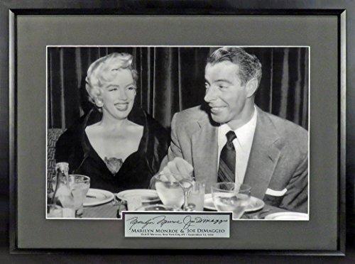 "- NY Yankees Joe DiMaggio & Marilyn Monroe ""Night at El Morocco"" 12x18 Photograph (SGA Signature Engraved Plate Series) Framed"