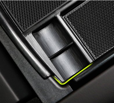 Caartonn Car Center Console Armrest Box Glove Box Organizer Secondary Storage for Tesla Model X Model S 2016 2017 2018