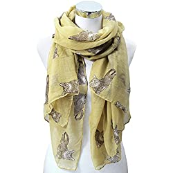 Odema Women Cat/Geometric/Anchor/Flower Pattern Infinity Wrap Scarf