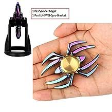 LUNIWEI Spider Alloy Hand Spinner Fidget Focus Toy EDC Finger Spin Gyro ADHD Autism