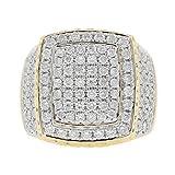 3.35 Carat 10kt Yellow Gold Diamond Men's Statement Pinky Ring