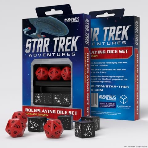 Star Trek Adventures: Command Division Dice Set - Red