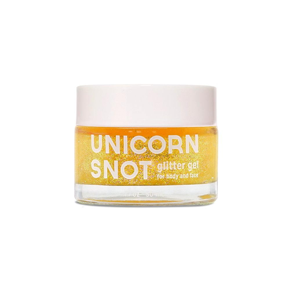 Unicorn Snot Vegan and Cruelty Free Glitter Gel for Face, Body, and Hair in Holographic Gold