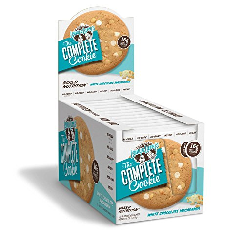 Lenny & Larry's The Complete Cookie! (4 oz. Cookie, Pack of 12, White Chocolate Macadamia)