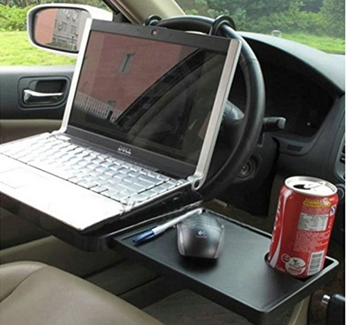 Foldable Car Laptop Stand Seat Steering Wheel Notebook Tray Table Food