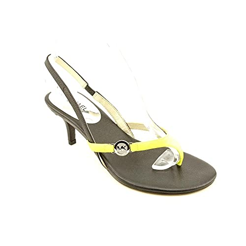 c17c08ab33e Michael Michael Kors Bridget Womens Neon Yellow Slingback Sandals Shoes  (6.5)