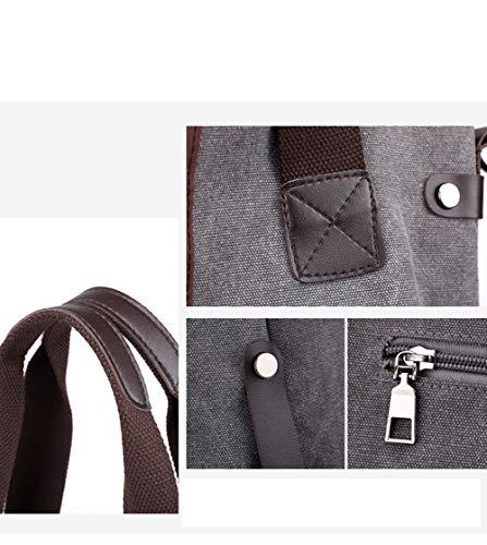 Imprimée Main Shopping À Cuir Sac Bandoulière Femme À Lanières Sac Gray Sac avec De À Coton Toile Bandoulière v4HwqAnFUx