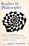 Studies in Philosophy, British Academy Lectures, , 019283004X