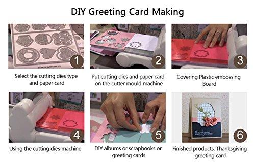 Cutting Dies Cut Metal Scrapbooking Love Heart Square Flower Star Sunflower Stencils Nesting Die for DIY Embossing Photo Album Decorative DIY Paper Cards Making Craft 9set (Set 5) by Eswala (Image #6)