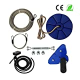 Family Backyard toys 95 Foot Zip Line Kit with Brake and Seat, Zip Line Cable Trolley Pulley to Bring Colorful Fun and Enjoyment with the MOST Complete Accessories zipline, Strop, Swing