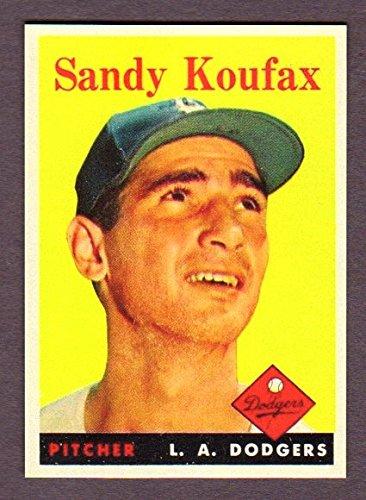 Sandy Koufax 1958 Topps Baseball Reprint Card (Brooklyn) (Los Angeles)
