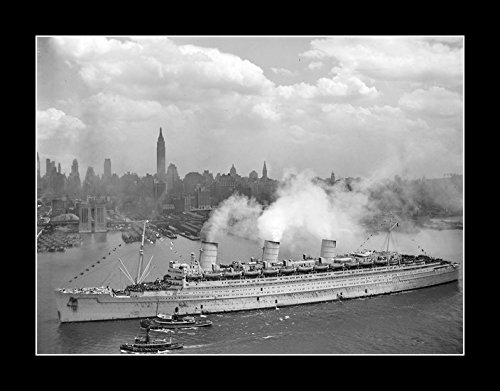 8 x 10 All Wood Framed Photo The First Queen Mary Ship (Queen Mary Ship Pictures)
