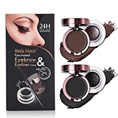 Feature: 1.This is a fascinated GEL EYE LINER and EYE BROW makeup set with?High Quanlity & Reasonable Price  2.The application is very easy and stays for a long time with perfect black and brown pigment  3.Powerful waterproof,anti-sweat a...