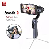 Zhiyun Smooth-Q 3-Axis Handheld Gimbal Stabilizer for Smartphone Like Iphone8/7 Plus Samsung S8+ S8 & Gopro 5/4/3 & XiaoYi 1/4 Wireless Control Vertical Shooting Panorama Mode-Gray