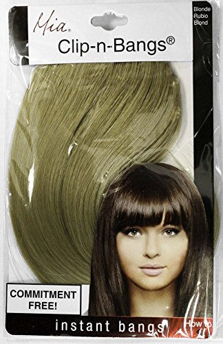 Mia Clip-n-Bangs-Commitment Free, Instant Bangs! Made Of Synthetic/Faux Wig Hair-8