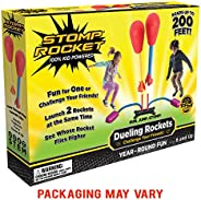 Stomp Rocket Dueling Rockets, 4 Rockets and Rocket Launcher - Outdoor Rocket Toy Gift for Boys and Girls Ages