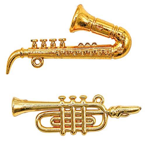 WSSROGY Set of 2 pcs Gold Saxoph...