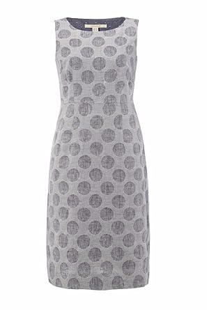 Linen Mix Shift Dress Size 8 Amazon Clothing