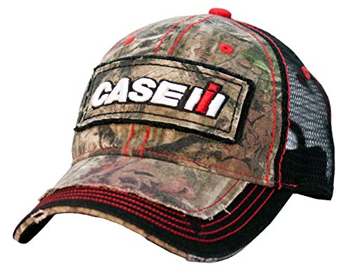 Case IH Youth Distressed Camo Mesh Back Hat - Officially ()