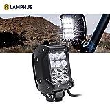 "LAMPHUS CRUIZER 4"" 36W LED Work Light Bar [Flood/Spot Combo] [30/60 Degree Spread] [IP67 Rated] ufffd Dual-Stacked Off-Road Lights for ATV UTV Jeep"