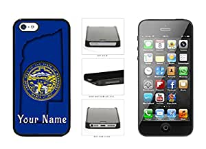 Nebraska State Flag With Custom Name Plastic Phone Case Back Cover For Apple iPhone 5 5S comes with Security Tag and myPhone Designs(TM) Cleaning Cloth