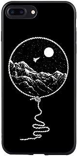 ERQINGT Etui pour Téléphone Portable Silicone pour Iphone 7 Plus Téléphone Cas Cool Cat Noir Art Abstrait Ligne Motif Lettre De Coeur pour Iphone 8 Plus 6 6S Se 5S 5 X 10