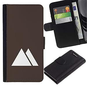 Stuss Case / Funda Carcasa PU de Cuero - Pirámides de Egipto minimalista de Brown - Sony Xperia Z3 Compact
