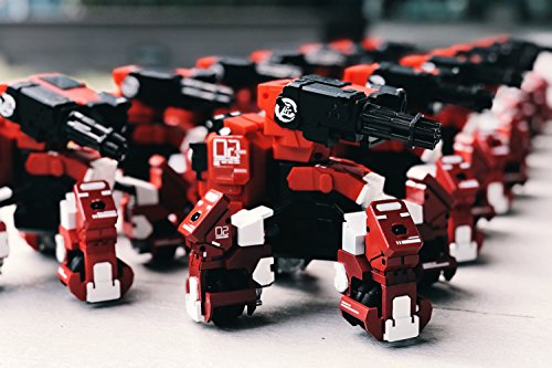 GEIO FPS Fighting Robot, GJS Customize Battle Bot APP Controlled FPV VR Toys (Red)