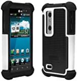 Ballistic Shell Gel (SG) Series for LG Optimus 3D / LG Thrill 4G - Black / White