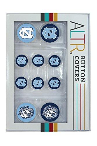 North Carolina Tar Heels Lapel Pins - Made Loyal North Carolina Tar Heels UNC Button Covers Set 2