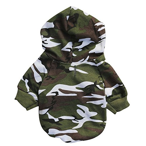 GINBL Pet Camouflage Small Dog Hoodie for Cute Dogs Sweatshirt Comfort Puppy Winter Costume Hoodies (Hot Dog Sweatshirt)