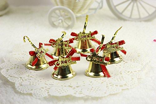 9pcs//lot Merry Christmas Bell Ornaments Multi Color Brilliant Plastic Jingle Bells Christmas Tree Decorations