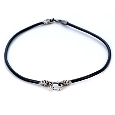 Bico 4mm Black Leather Necklace Long (CL6 Black) Tribal Surf Jewellery VQwl1M
