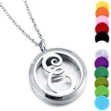 Women's Locket Necklace Perfume Fragrance Essential Oil Aromatherapy Diffuser
