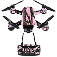 Skin for DJI Spark Mini Drone Combo - Pink Tree Camo| MightySkins Protective, Durable, and Unique Vinyl Decal wrap cover | Easy To Apply, Remove, and Change Styles | Made in the USA