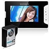 MAOTEWANG 7'' LCD Video Door Phone Doorbell Intercom Kit IR Camera 1-Monitor Night Vision 700TV Lines 10m Cable