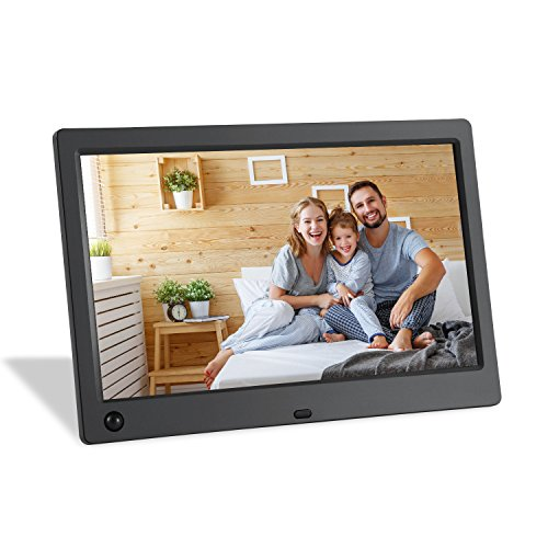 Wasserstein 10-inch Digital Photo Frame - Motion Sensor, 1024x600 High Resolution Widescreen LCD with 720p HD Video Playback Plus Calendar and Clock Function Picture Frame by Wasserstein