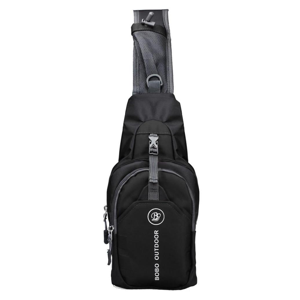 Logobeing Bolso de Hombro - Shoulder Bag Bolso de Bandolera Pecho, Desequilibrio, Gimnasio, Fanny, Mochila, Bolso, Taleguilla, Exterior, Bicicleta (F)