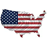 All My Walls USA00003 USA Country Flag Map Metal Wall Art Sculpture