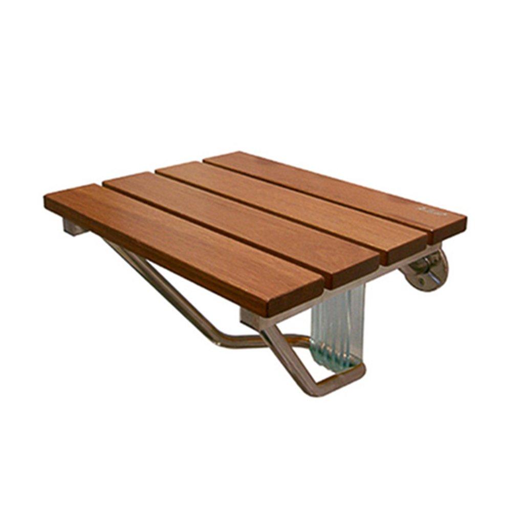 折り畳み可能な壁のスツールバスルームシャワーのスツール木製のボード折り畳み式の椅子通路の椅子高齢シャワーの椅子靴の壁の椅子を変更する38センチメートルヘビーデューティマックス。 160kg   B07F36L6Q7