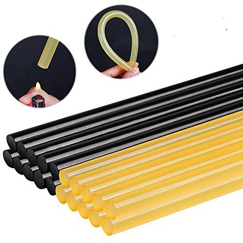 Paintless Dent Repair Glue (FLY5D 20Pcs Paintless Dent Repair Tool Car Repair Dent Remover Tool Set Hot Glue Sticks (Black+Yellow))