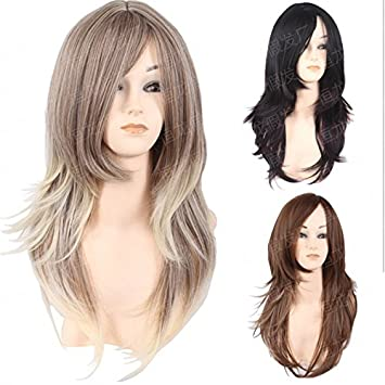 Amazon Fashion Style Golden Head Fluffy Wig Male Hairstyle