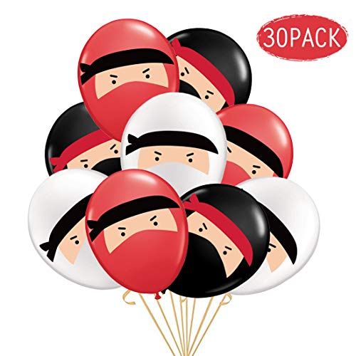 KREATWOW Ninja Balloons for Kids Boys Birthday Party Supplies Decorations -